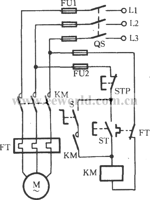 Change-over switch selecting operating mode circuit