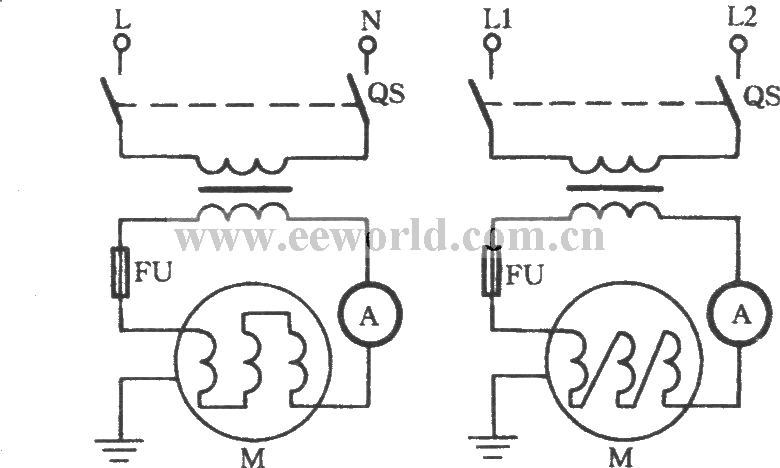 Motor winding heating and drying circuit with welding