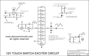 12V TOUCH SWITCH EXCITER CIRCUIT  Basic_Circuit  Circuit