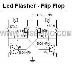555 Led Flasher Circuit Diagram 555 Pulse Circuit Wiring