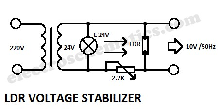 Voltage Stabilizer Circuits with LDR (Photoresistor
