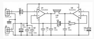 40W / 2 ohm (24W / 4 ohms) Bridge Power Amplifier (Cheaper