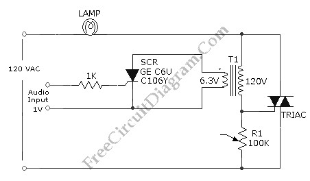 Audio-Controlled Incandescent Lamp Light Controller