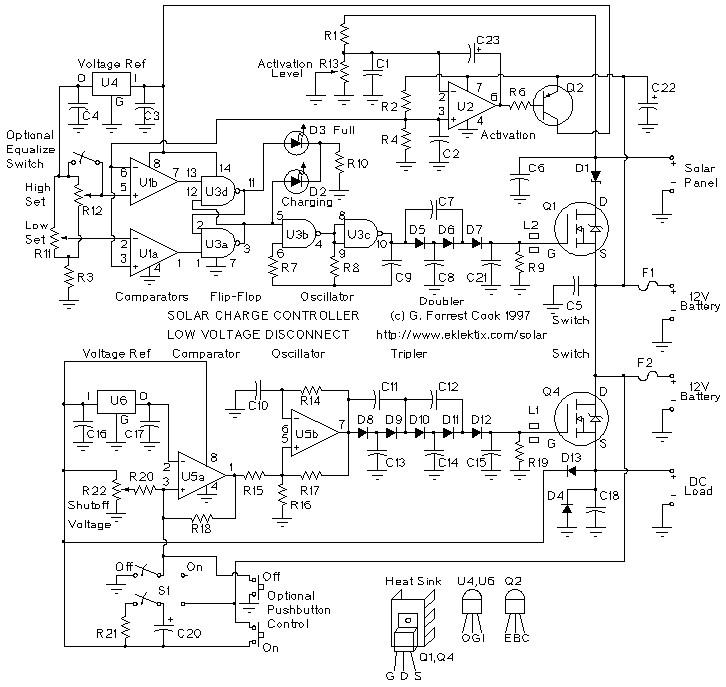 pwm solar charge controller circuit diagram australian phone socket wiring rj11 panel low voltage disconnect spc1
