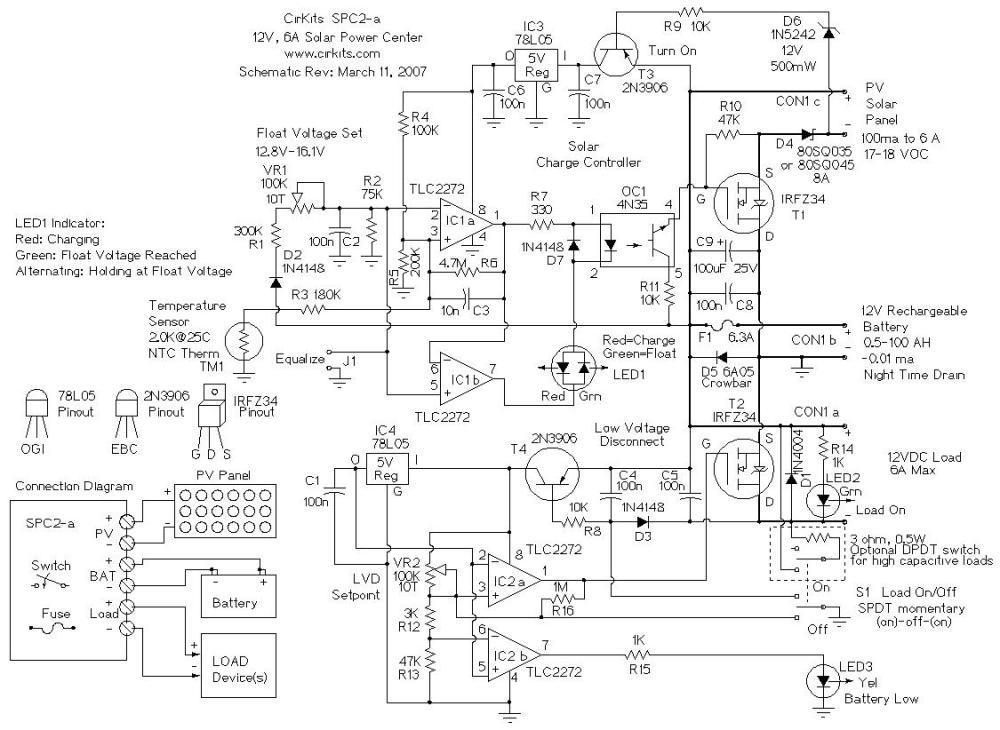 medium resolution of spc2 6 amp solar power center
