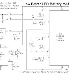 low power led voltmeter led and light circuit circuit diagram alternator to voltmeter wiring diagram led wiring diagram of voltmeter [ 1140 x 751 Pixel ]