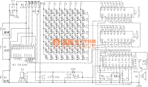 small resolution of led flowing display electronic clock hardware circuit