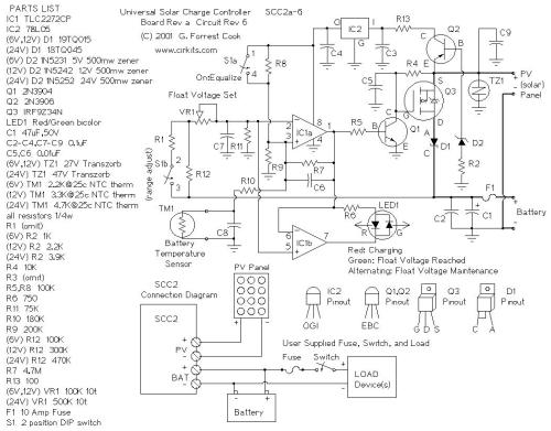 small resolution of 10 amp solar charge controller by lm324