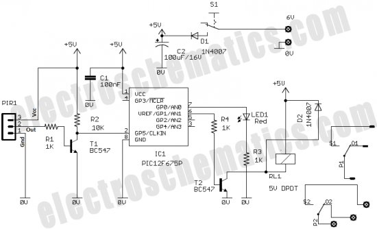 time delay uses power transistor ic