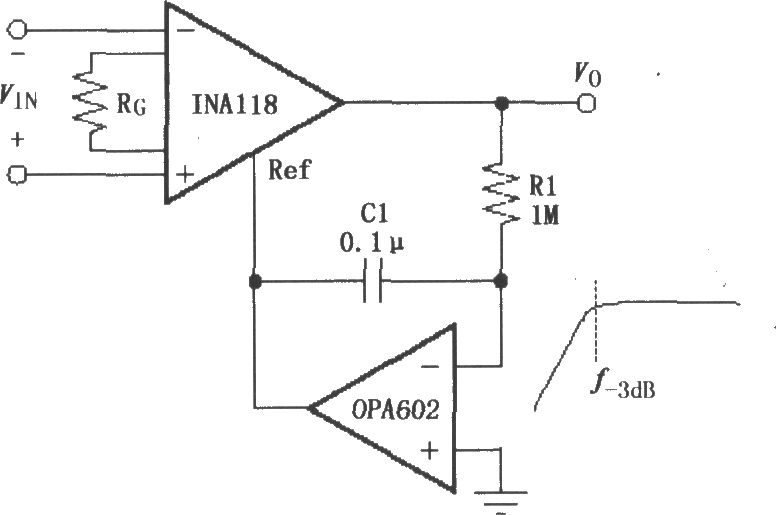 Constituted by the INA118 AC-coupled instrumentation