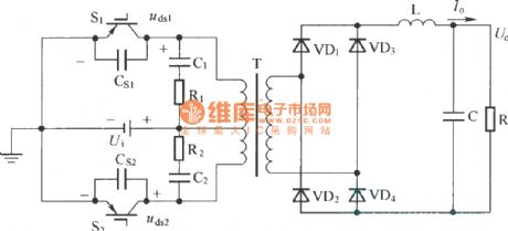 Push-pull type hard switch electric schematic diagram
