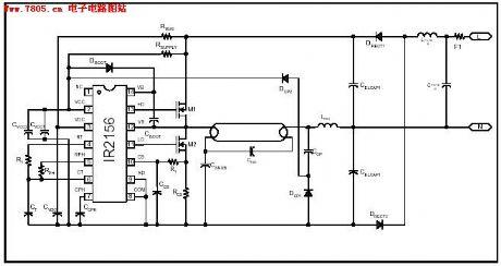 IR2156 fluorescent lamp integrated circuit electron