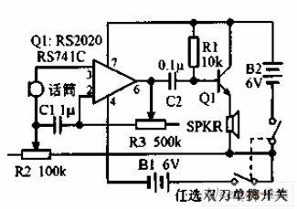 High-gain operational amplifier transistor output circuit