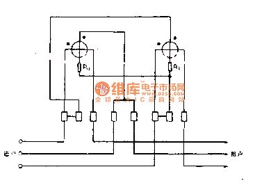 The dual component sine table wiring circuit diagram of