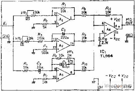 Temperature PID Control Circuit of Operational Amplifier