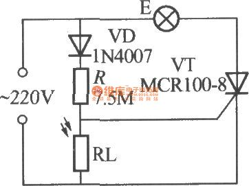 Simple light-operated street lamp circuit diagram(1