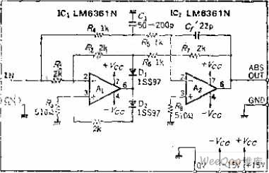 High-speed Absolute Value Circuit of OP Amp with Phase