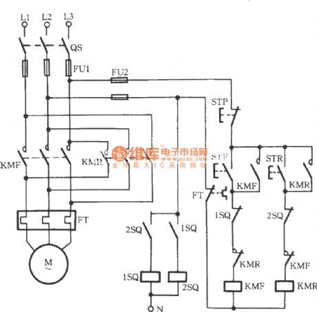 Wiring Diagram Forward Reverse Starter on 3 phase motor starter diagram
