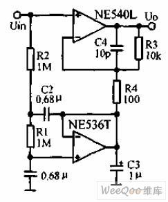 AC amplifier circuit diagram to offset large DC offset