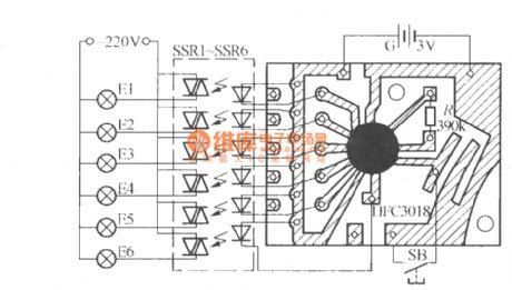 Six-way blinking light string circuit ( 1 ) ( HFC3018