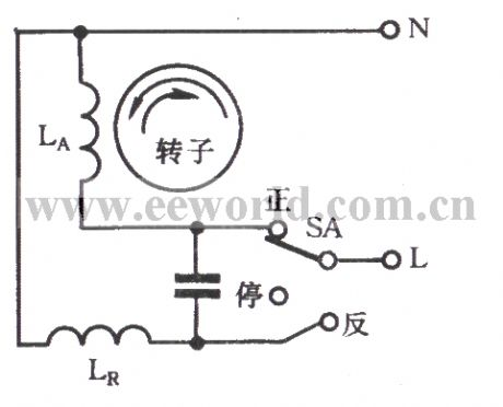 Frequent commutation circuit of capacitor start single