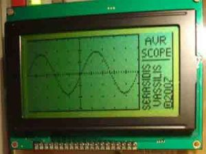 LCD Oscilloscope using AVR MC  Basic_Circuit  Circuit Diagram  SeekIC