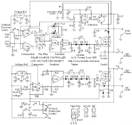 Solar Panel Charge Controller / Low Voltage Disconnect