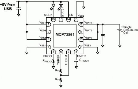 Lithium Polymer Battery Charger Circuit Lipo Battery