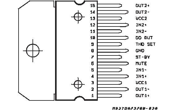 TDA7376B, US $ 1.93-2.83 , STMicroelectronics, TDA7376B