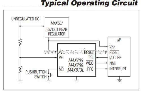 MAX708CSA ,IC MPU SUPERVISORY CIRCUIT 8SOIC MAX708CSA