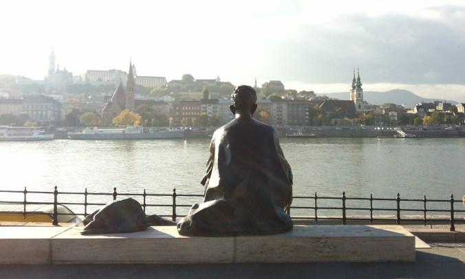 Statue on the Danube