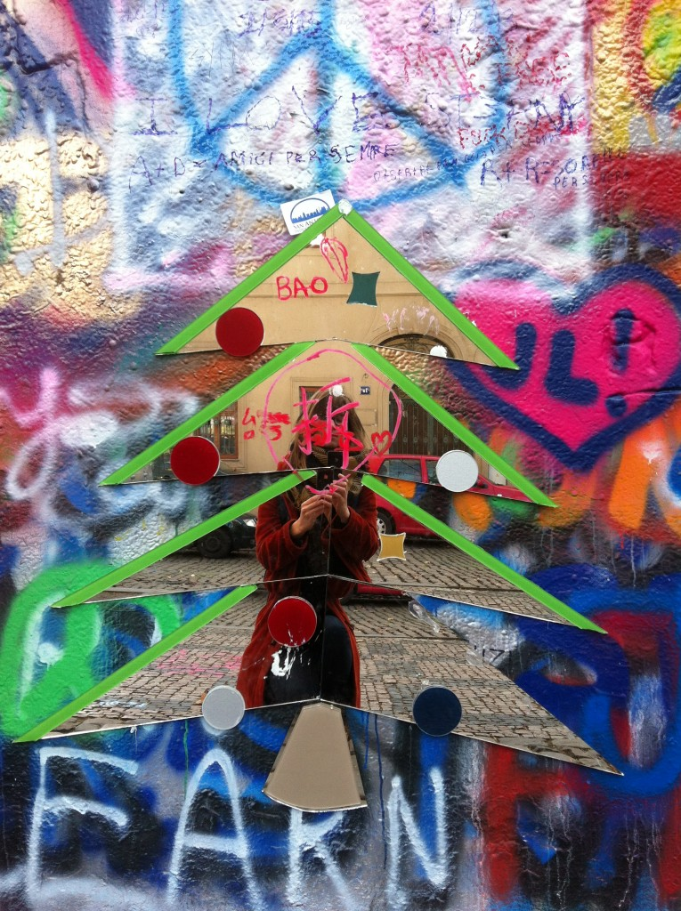 Self Portrait in the Lennon Wall