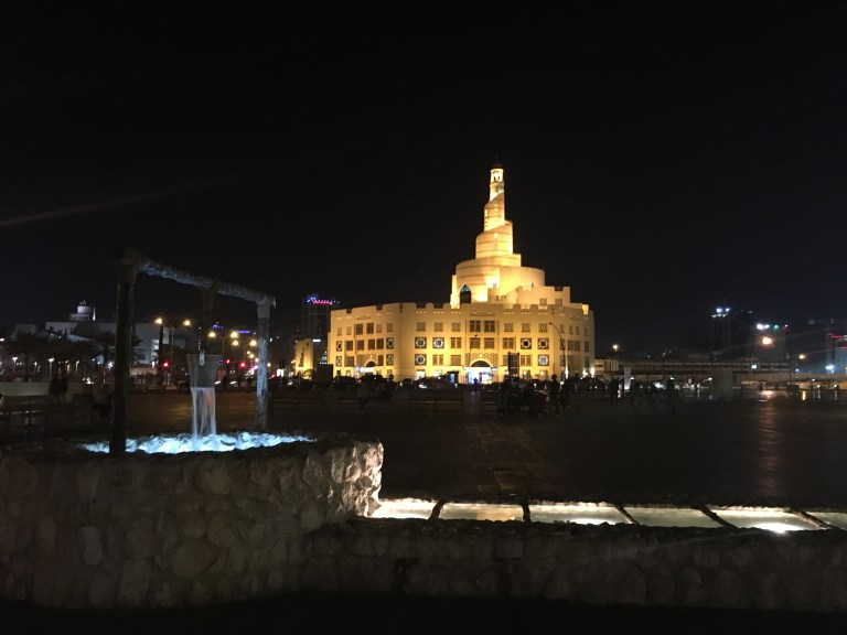 Midnight walk in Doha, Qatar