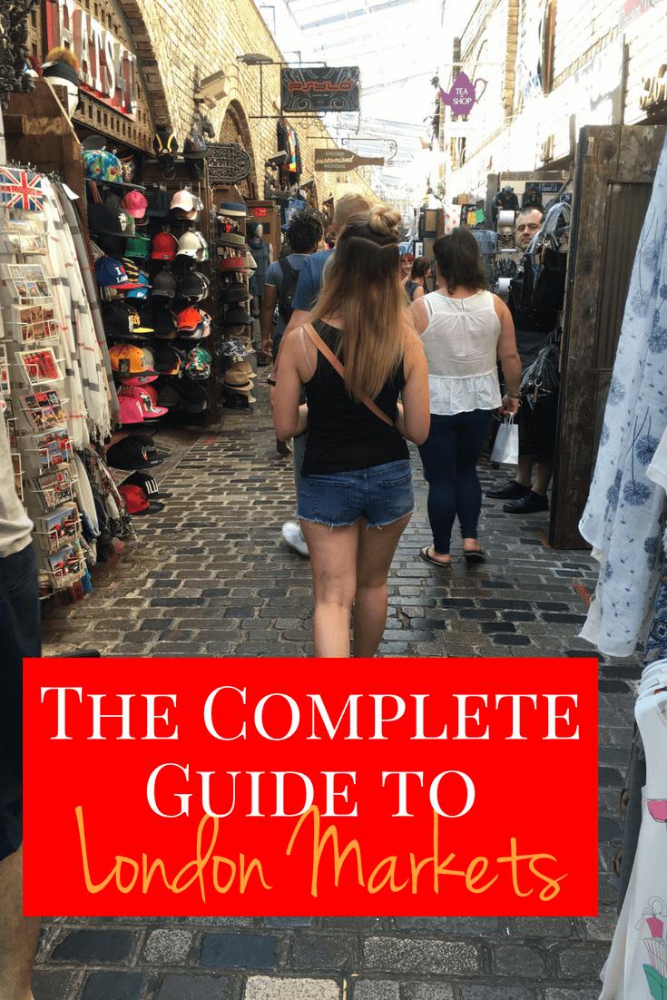 Girl walking through Horse Stable Market in London