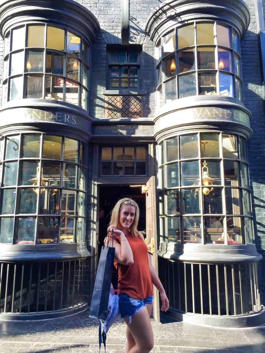 Instagram worthy spots at Harry Potter World - Olivanders