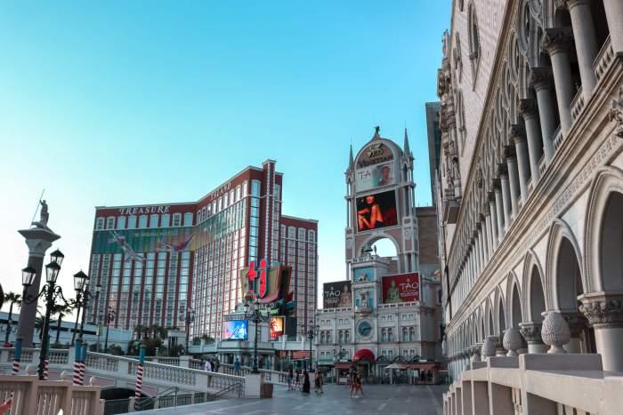 On Las Vegas Blvd outsite the Venetian with local guddy