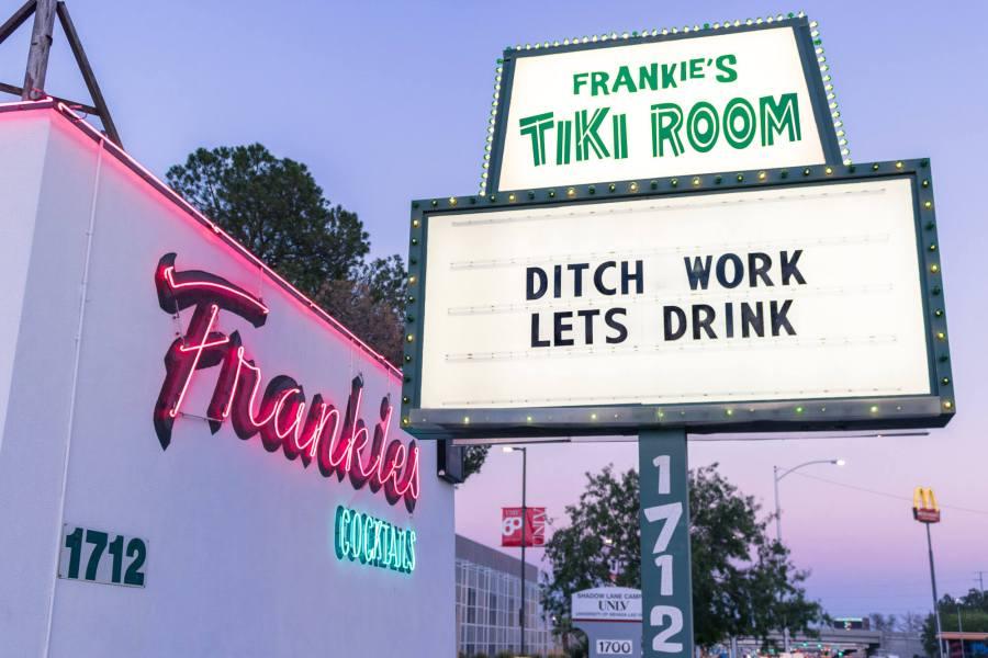 frankie's tiki room is one of the best bars in las vegas for tiki drinks