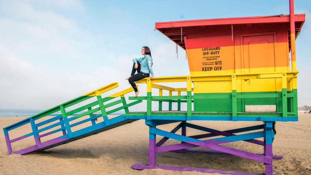 Instagram spots in LA: Venice beach photo spots