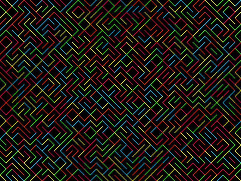 Colorful 10 Print in p5.js