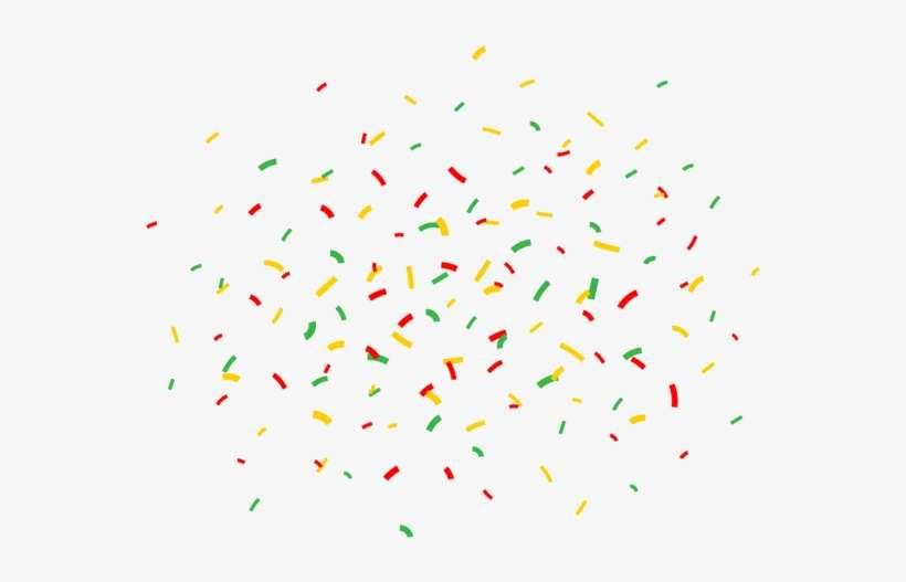 cartoon happy birthday confetti