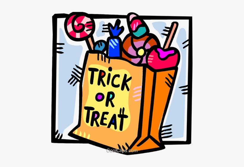 Bag Halloween Candies Royalty Free Vector Clip Art Trick Or Treat Candy Clipart Png Image Transparent Png Free Download On Seekpng