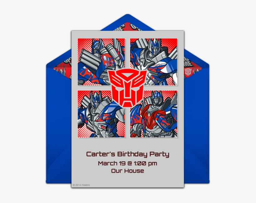 transformers birthday invitation png