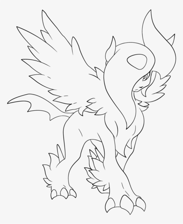 Pokemon X And Y Mega Coloring Pages - Line Art PNG Image