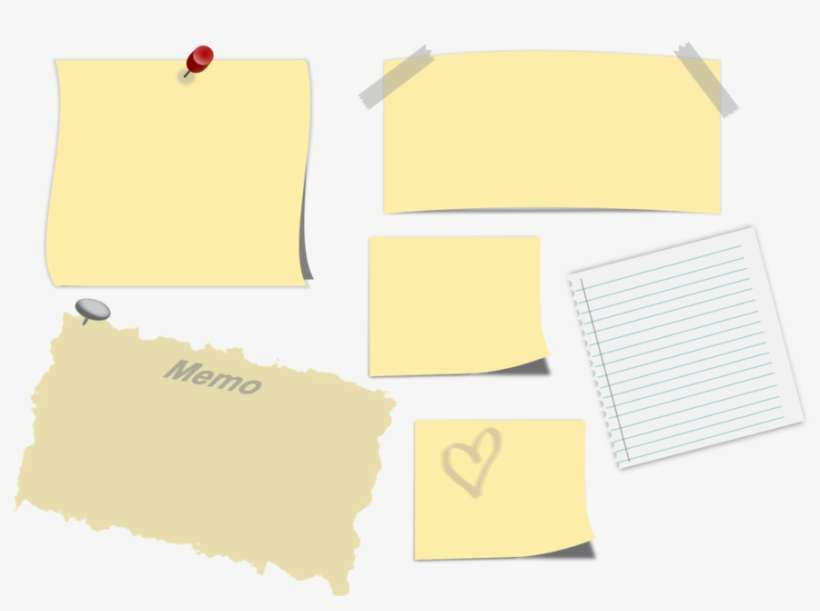 memo sticky note post it note paper