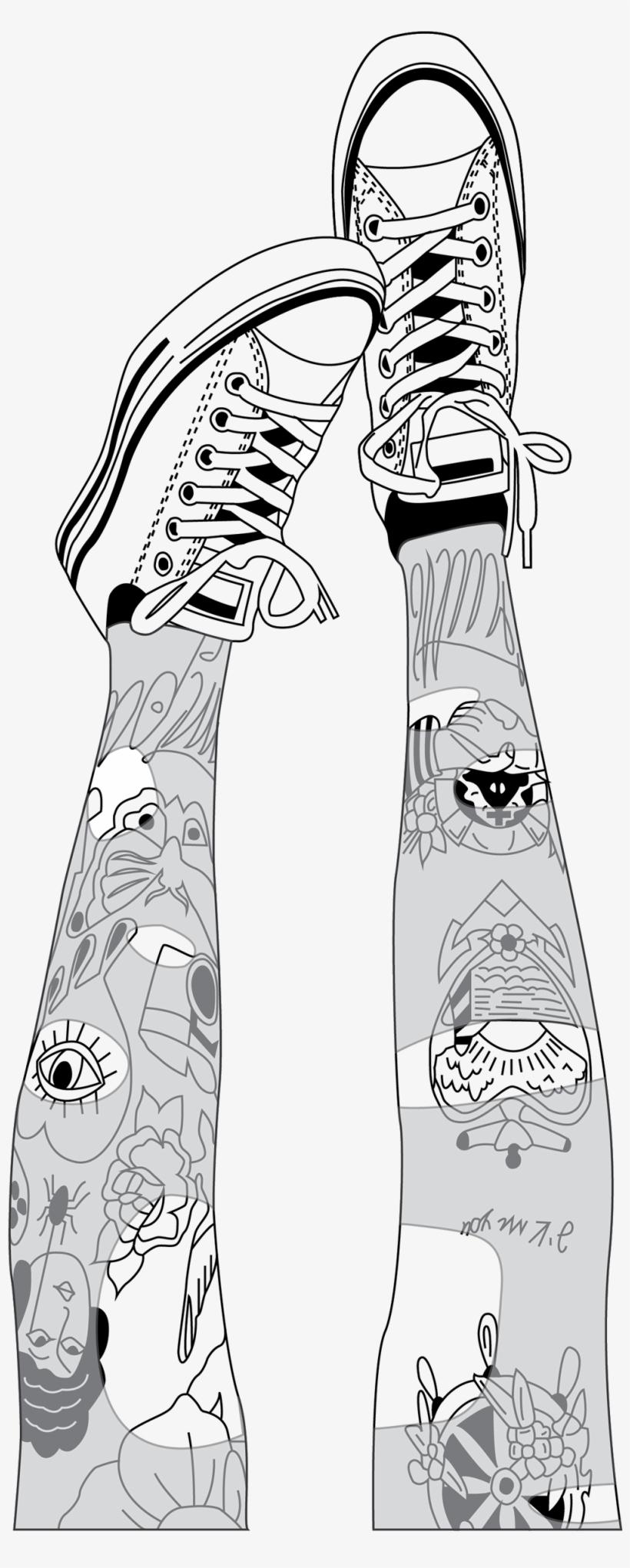 outlines pies zapatillas tumblr