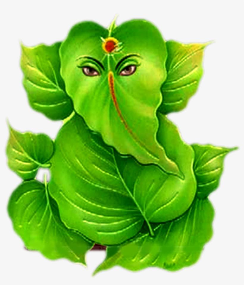 Hindu God Ganesha Png Images Photos Pics Hd Leaf Vinayagar Png Png Image Transparent Png Free Download On Seekpng