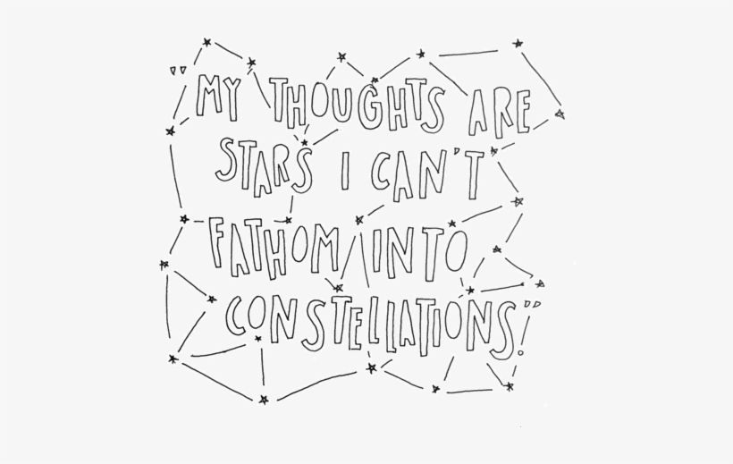 """my Thoughts Are Stars I Can't Fathom Into Constellations"