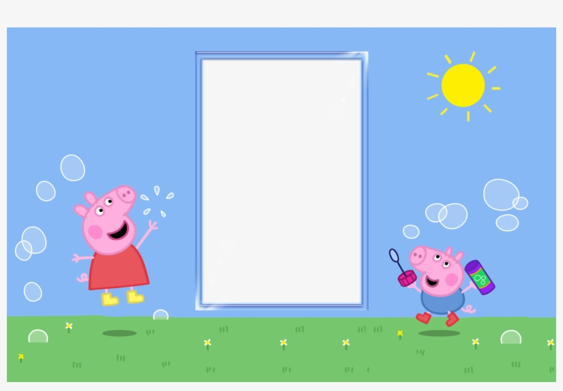 peppa pig party invite template png