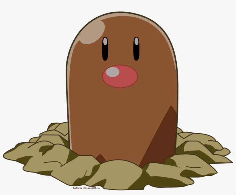 Diglett Is The Cutest Ground Pokemon Draw Pokemon Diglett From Pokemon Png Image Transparent Png Free Download On Seekpng