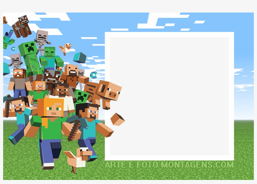 minecraft birthday party invite png